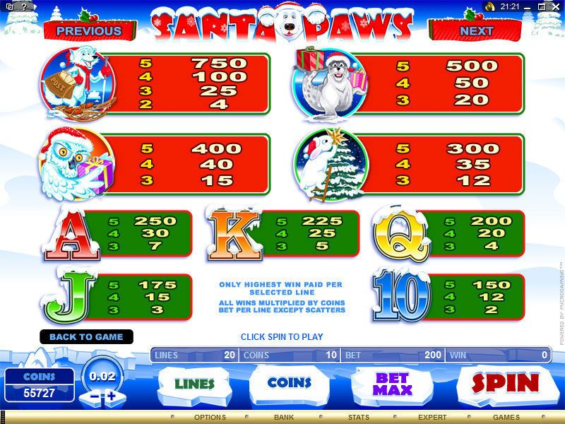 Santa Paws Symbols