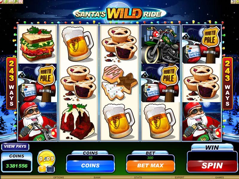 Santa's Wild Ride Free Slots