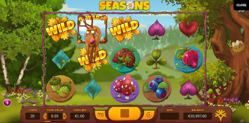 Seasons Slots Game Play