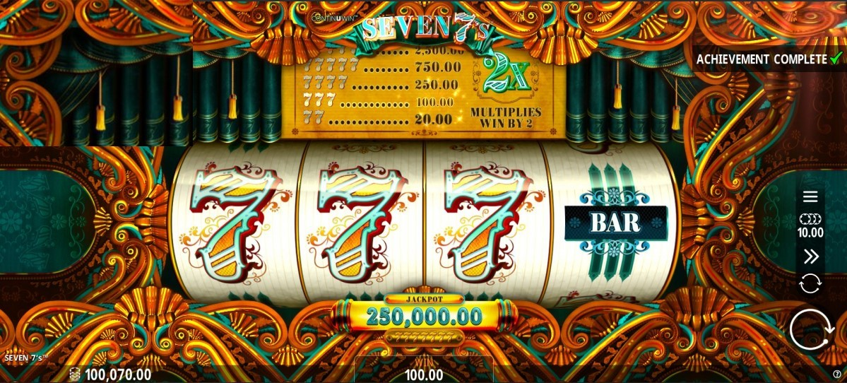 Seven 7s Slot Game Play