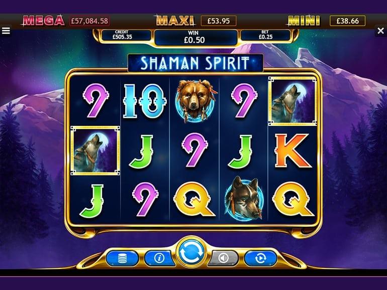 Shaman Spirit Jackpot Slot Gameplay