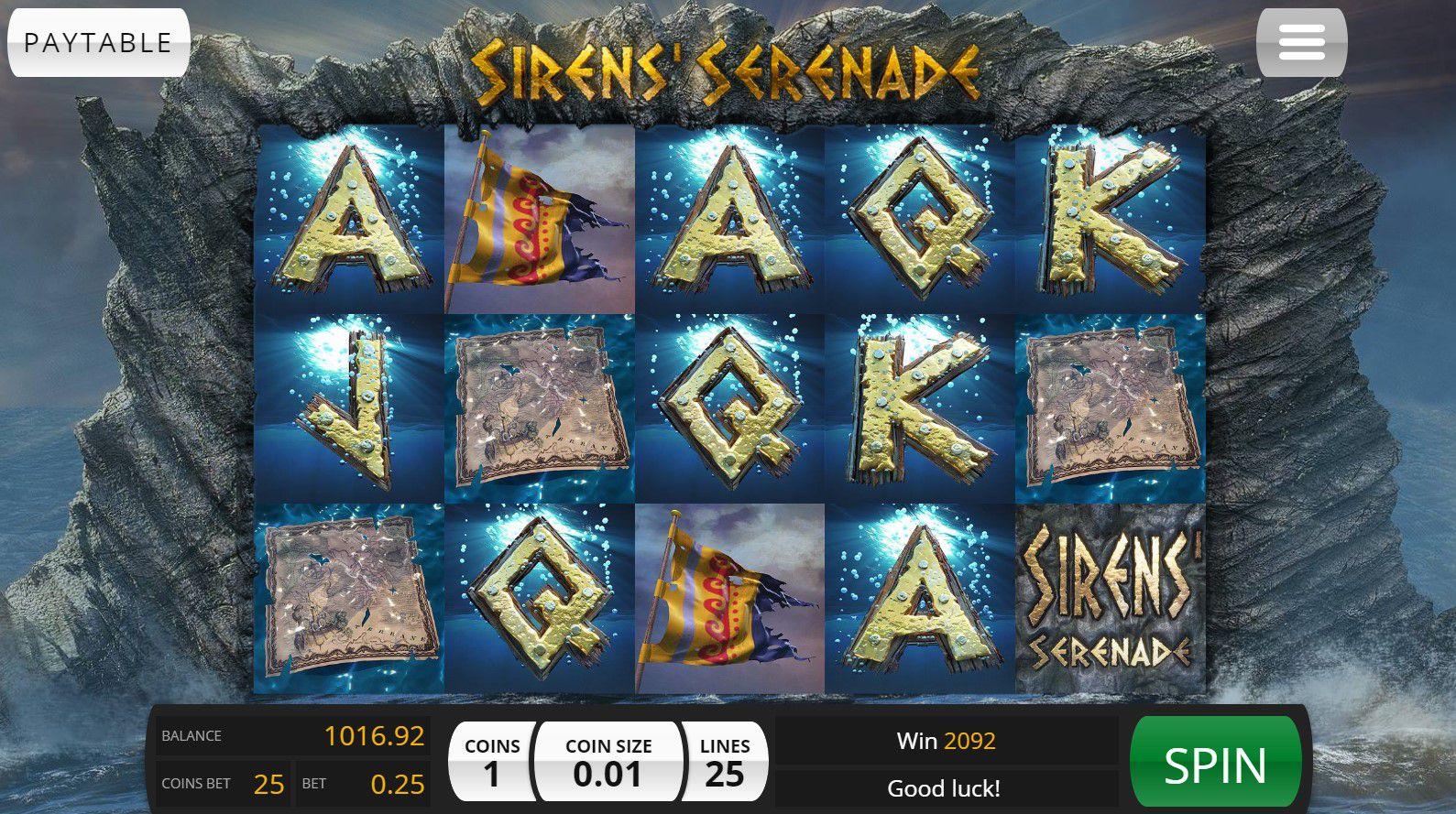 Sirens Serenade gameplay uk slot