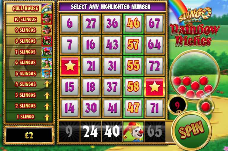 Slingo Rainbow Riches Slot Gameplay