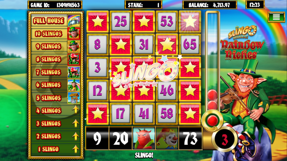 Slingo Rainbow Riches Slots big win
