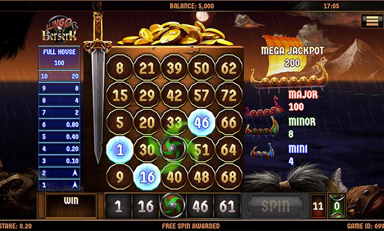 Slingo Berserk Slot Game Play