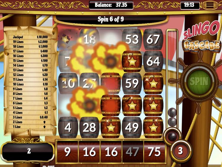 Slingo Cascade Slot Big Win