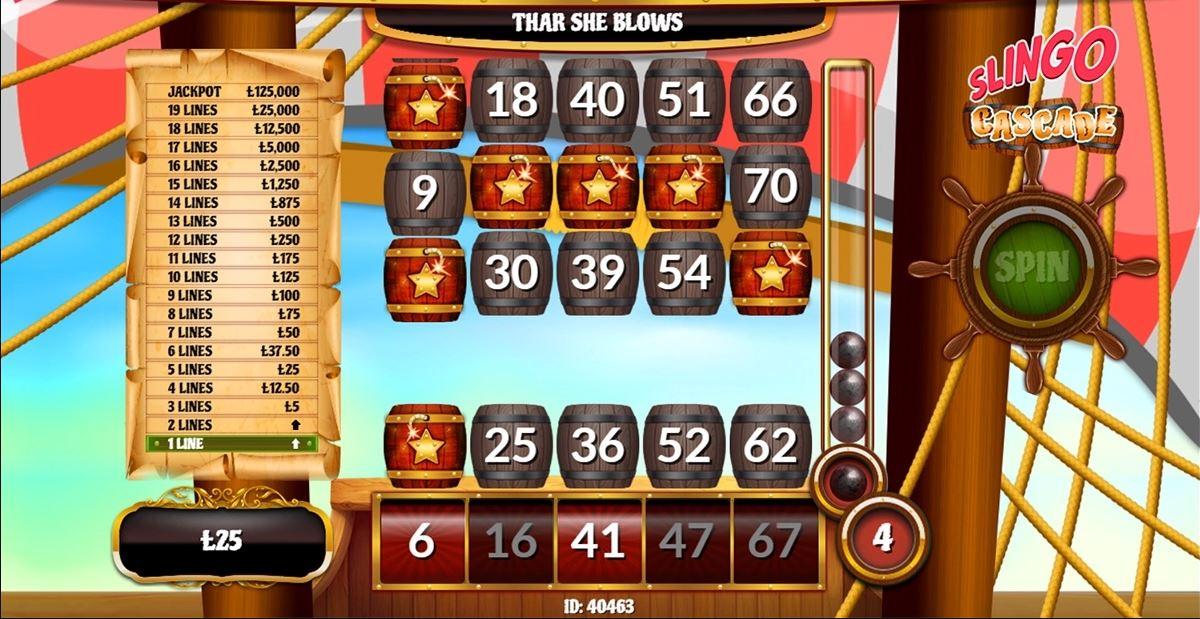 Slingo Cascade Slots Gameplay