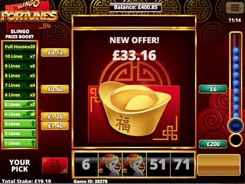 Slingo Fortunes Slot Bonus Features