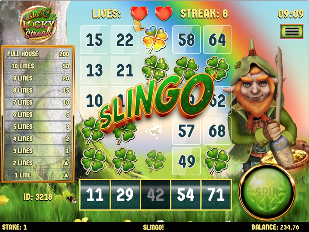 Slingo Lucky Streak Big WIn
