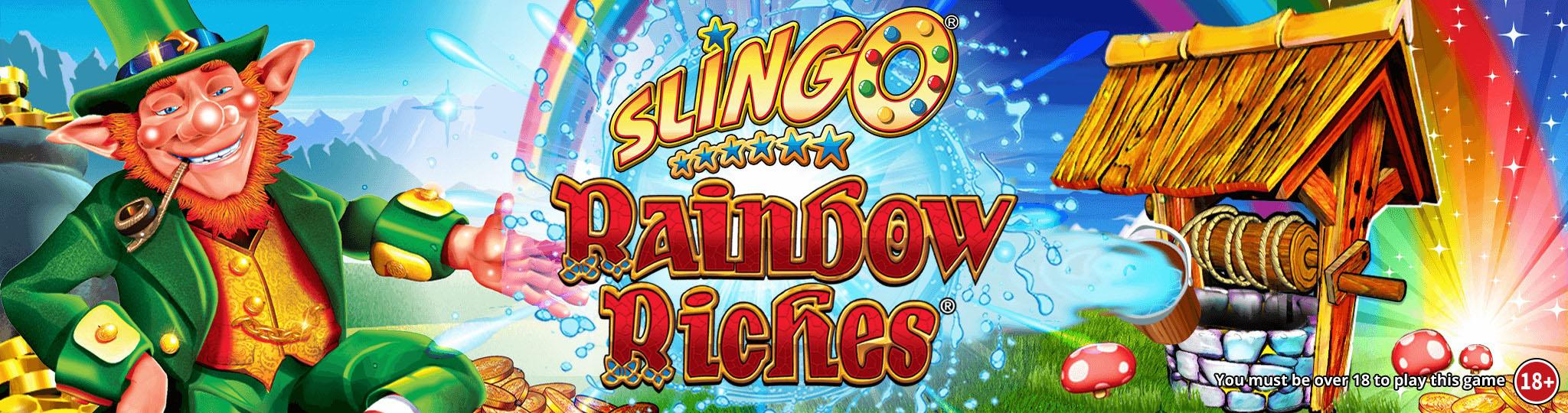 Slingo Rainbow Riches Slot Logo Umbingo