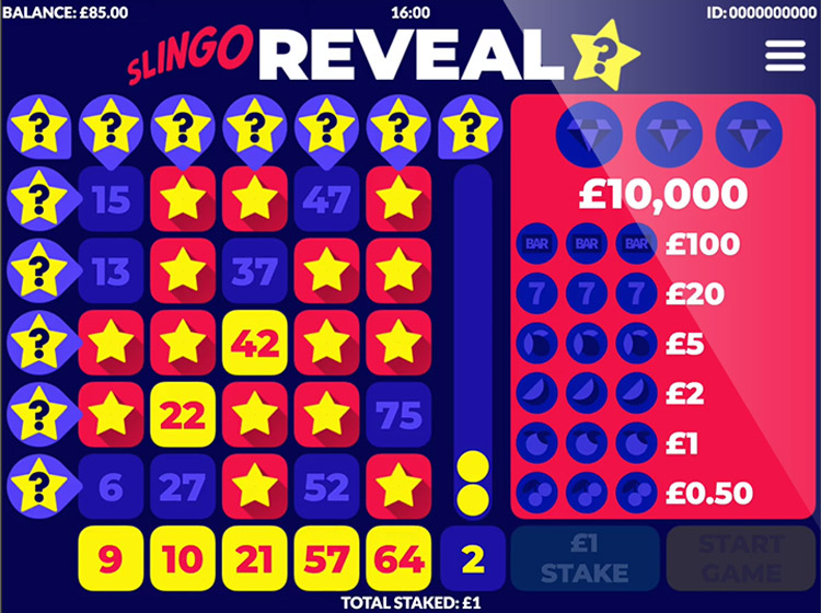 Slingo Reveal Slots Gameplay