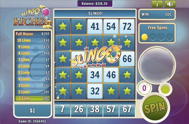 Slingo Riches Slot Slingo Win