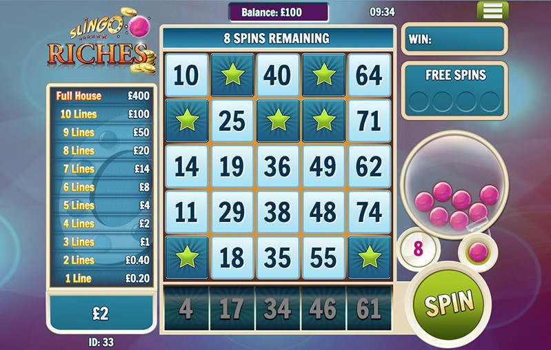 Slingo Riches Slots Gameplay