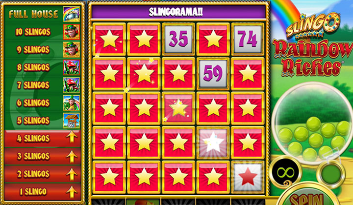 Slingo Rainbow casino gameplay