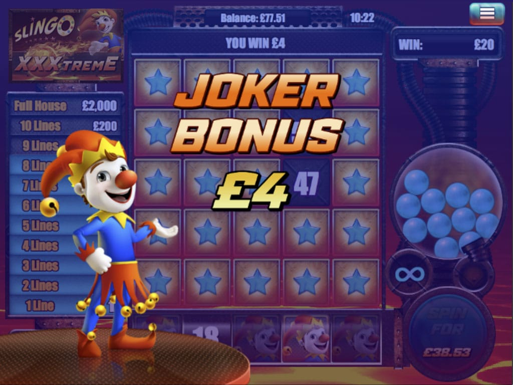 Slingo XXXtreme Slot Bonus Features