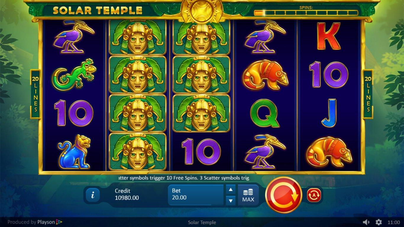 Solar Temple Free Slots