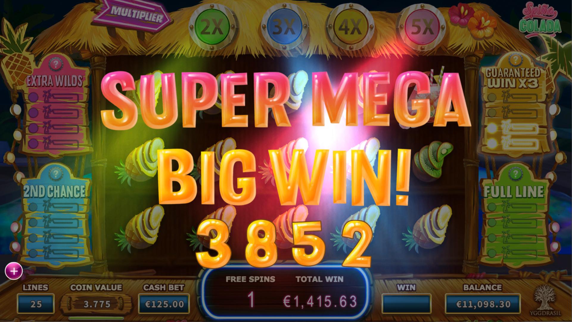 Spiña Colada Slot Super Mega Win