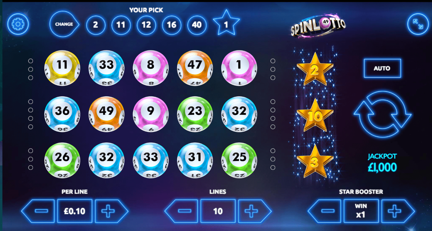 Spinlotto Slots Game
