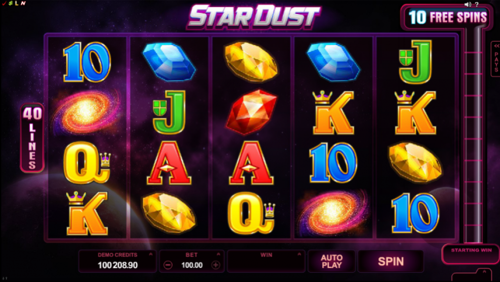 Stardust online casino gameplay