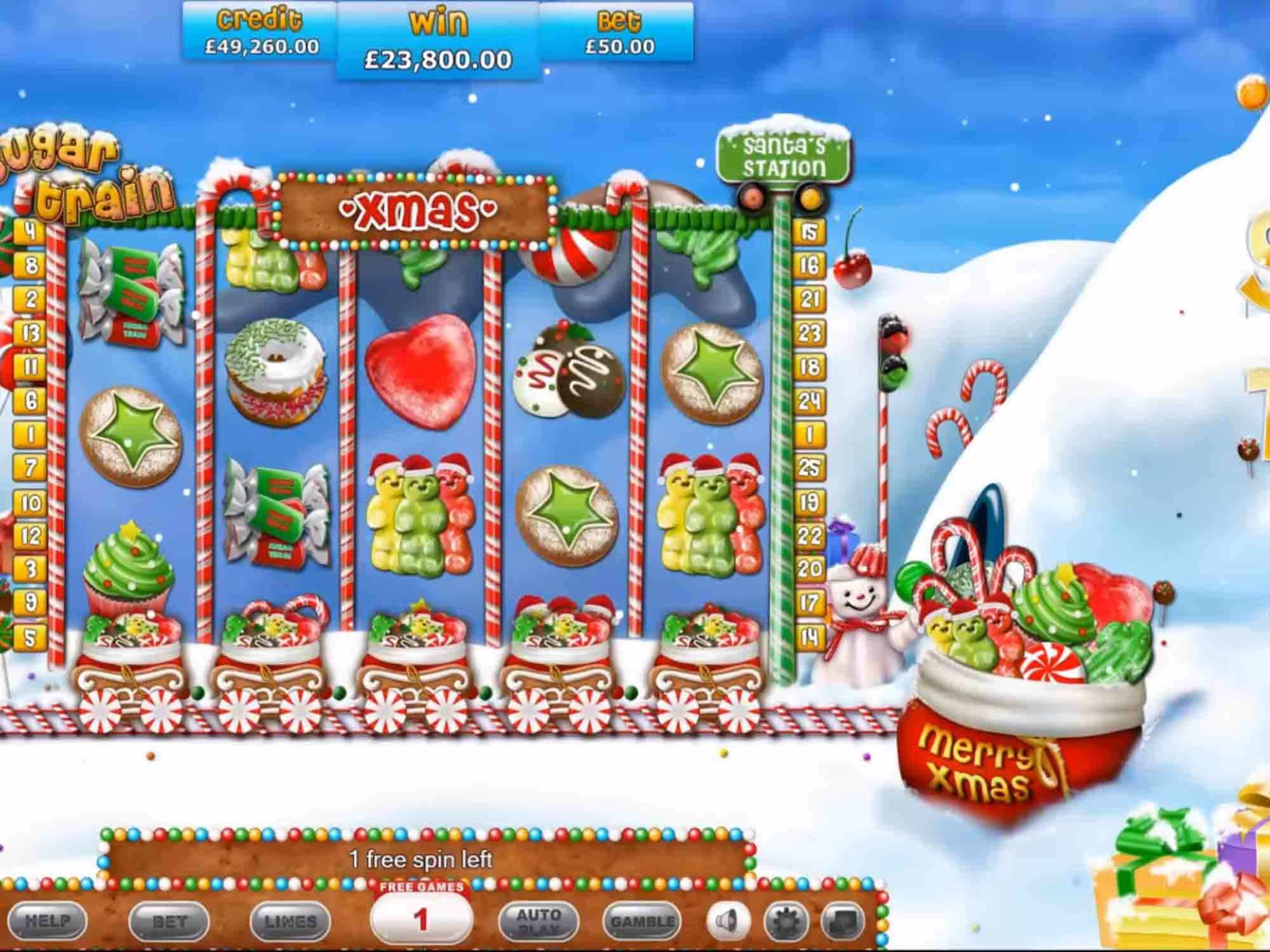 Sugar Train Xmas Slots Game