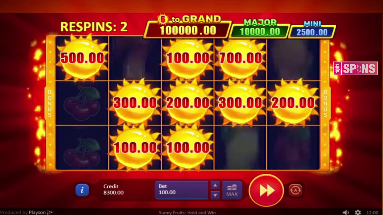 Sunny Fruits: Hold the Win Casino Game