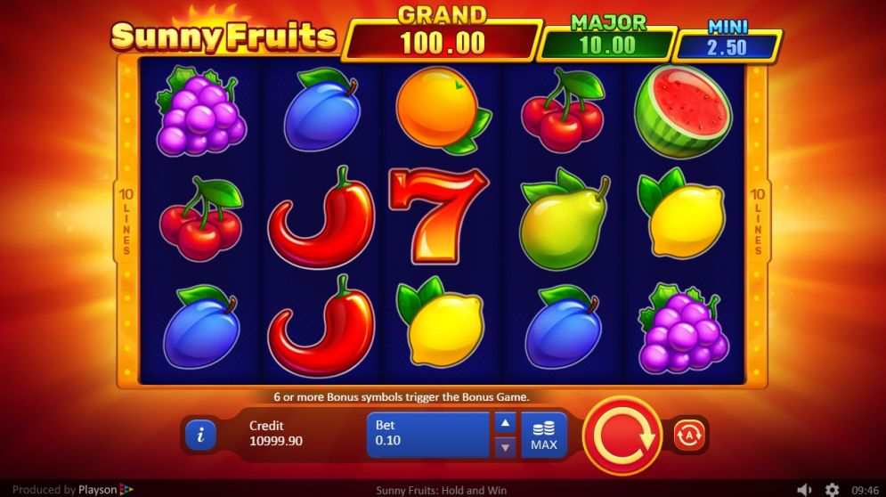 Sunny Fruits: Hold the Win slots online