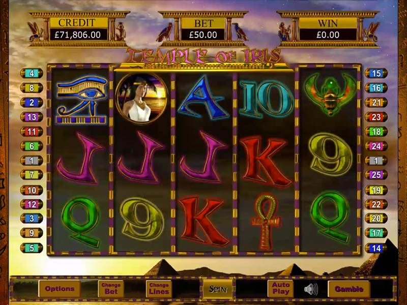Temple of Iris Gameplay Casino