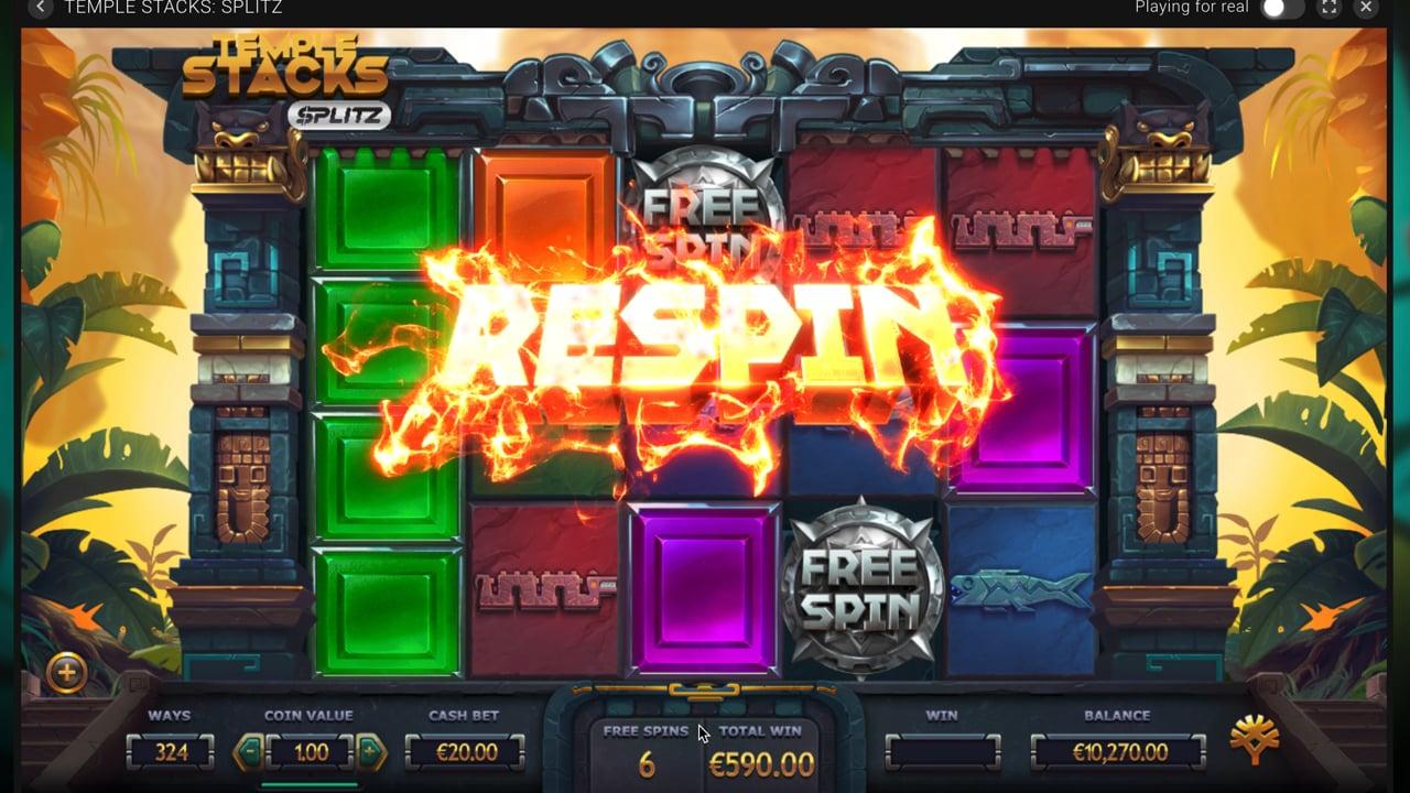 Temple Stack: Splitz Slot Re Spinn