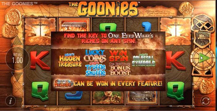 The Goonies Slot Bonus Features