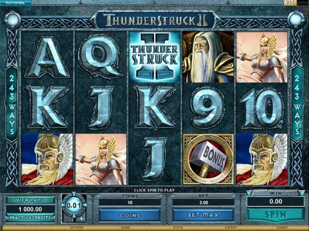 Thunderstruck II gameplay slot