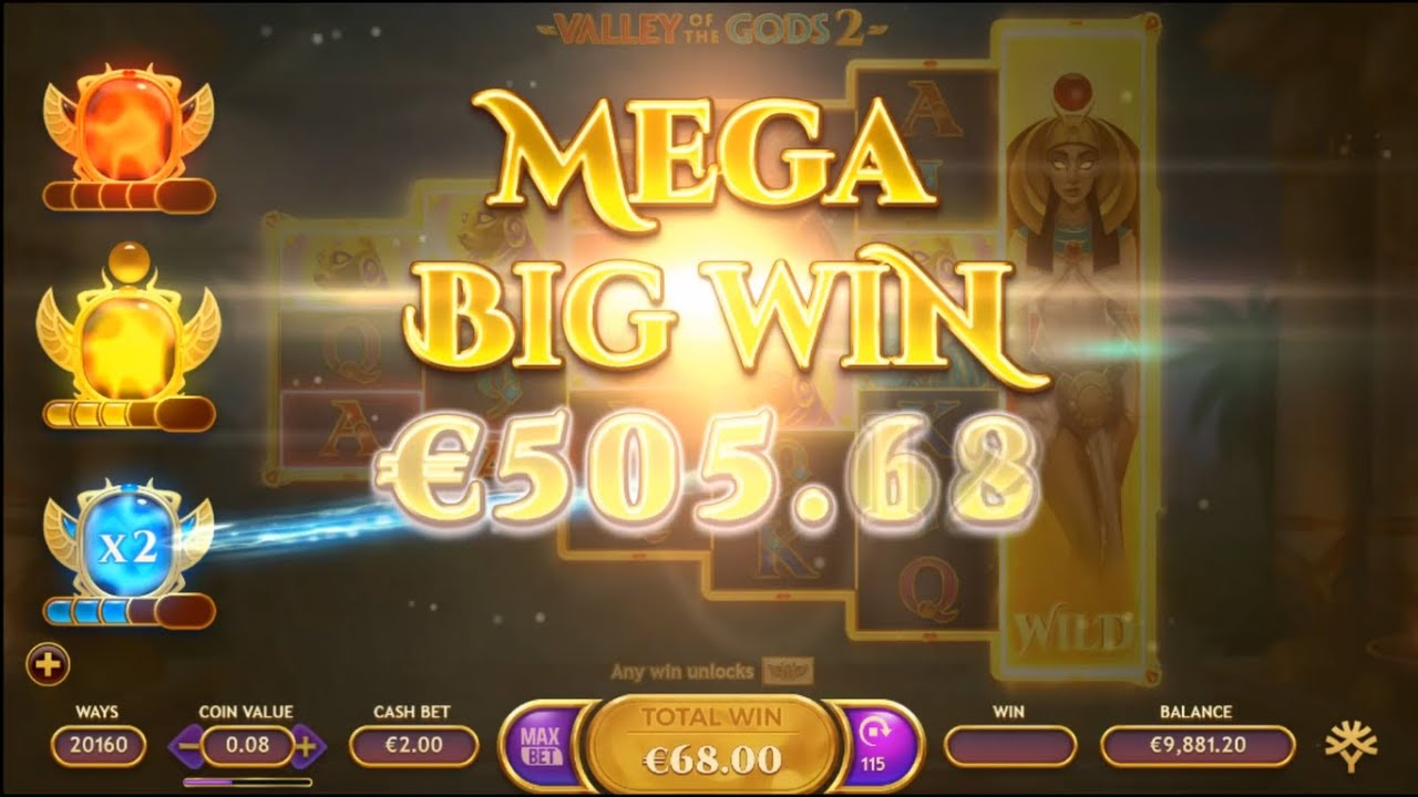 Valley of the Gods 2 Slots Paytable