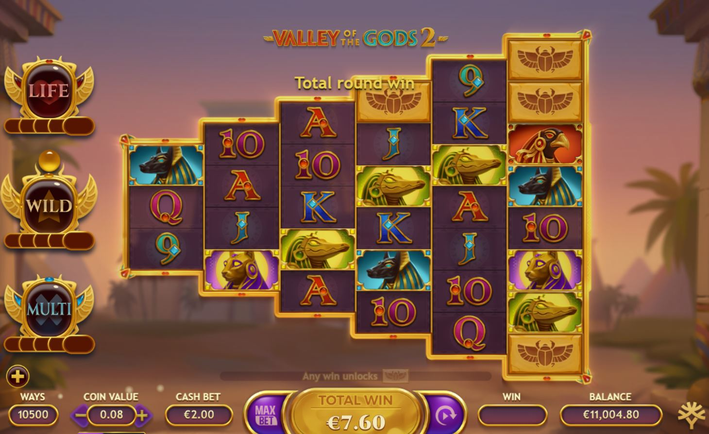 Valley of the Gods 2 Slot Game Play