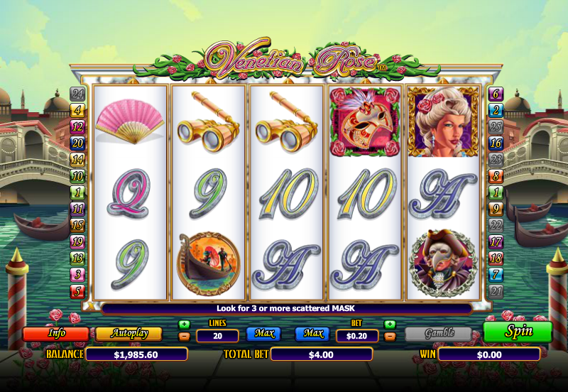 Venetian Rose Slot Gameplay