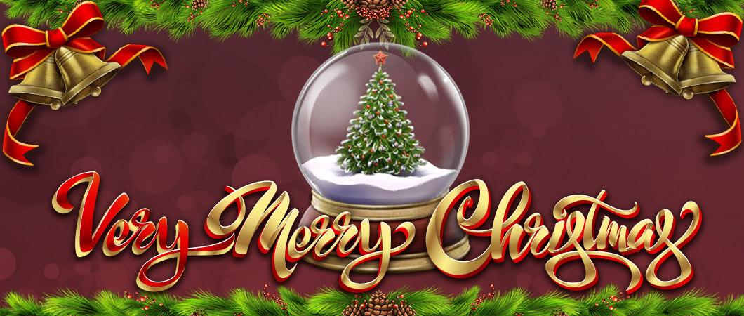 Very Merry Christmas Jackpot Slot Logo Umbingo