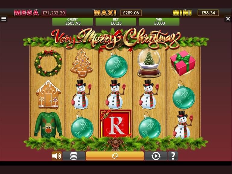 Very Merry Christmas Jackpot Slot Gameplay