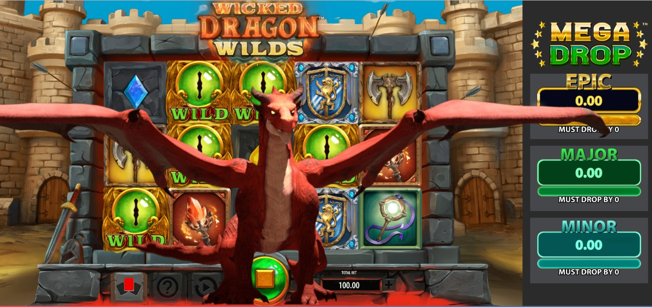 Wicked Dragon Wild Mega Drop Slots