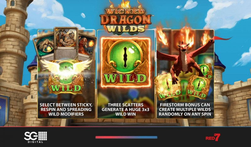Wicked Dragon Wild Slot Wilds