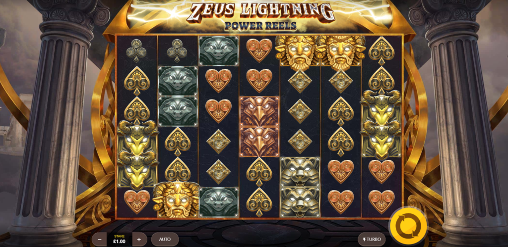 Zeus Lightning Power Reels Slots Game